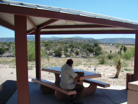 Guruji at SEdona Rest Area