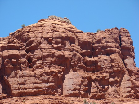 Sedona Mountains Close up